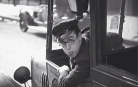 Driving in NYC 1928, Harold Lloyd
