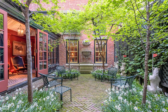 52 West 9th Street, Greenwich Village, garden, townhouse