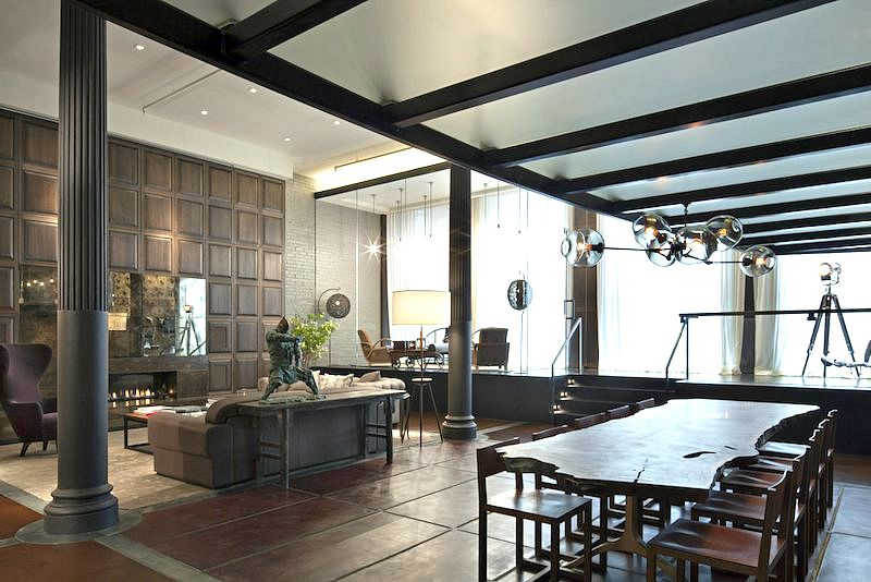 Luxurious modernism and eclectic spirit coexist in this for Architecture interior design new york