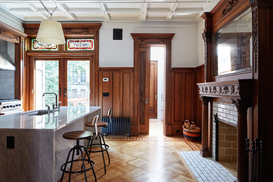 historic grandeur and modern design meet in this prospect heights