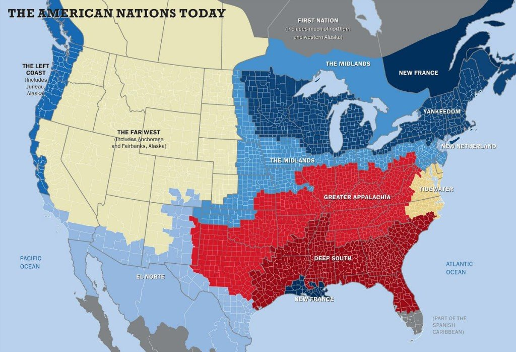 Picture of: Nyc Aka New Netherland Mapping The 11 Different Cultural Nations Within The U S 6sqft