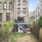 30 East 130th Street, Harlem, backyard, townhouse