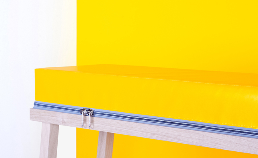 Visser & Meijwaard, colorful furniture, True Colors, Dutch design, easy wash, PVC, YKK zipper
