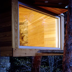 Dan Hisel, mirrored sauna, Cadyville Sauna, Cadyville, blend in the forest, cedar wood,