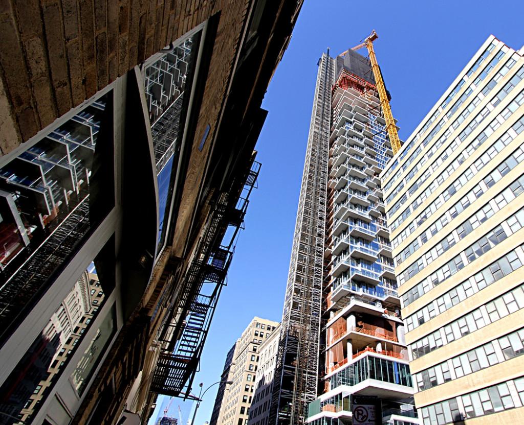 56 Leonard, Herzog de Meuron, Tribeca, skyscrapers, Alexico, Hines, Luxury Condos, NYC Developments