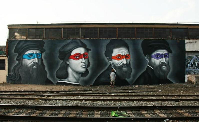 Owen Dippie, Renaissance Masters, Ninjas Turtles, Radiant Madonna, Keith Haring