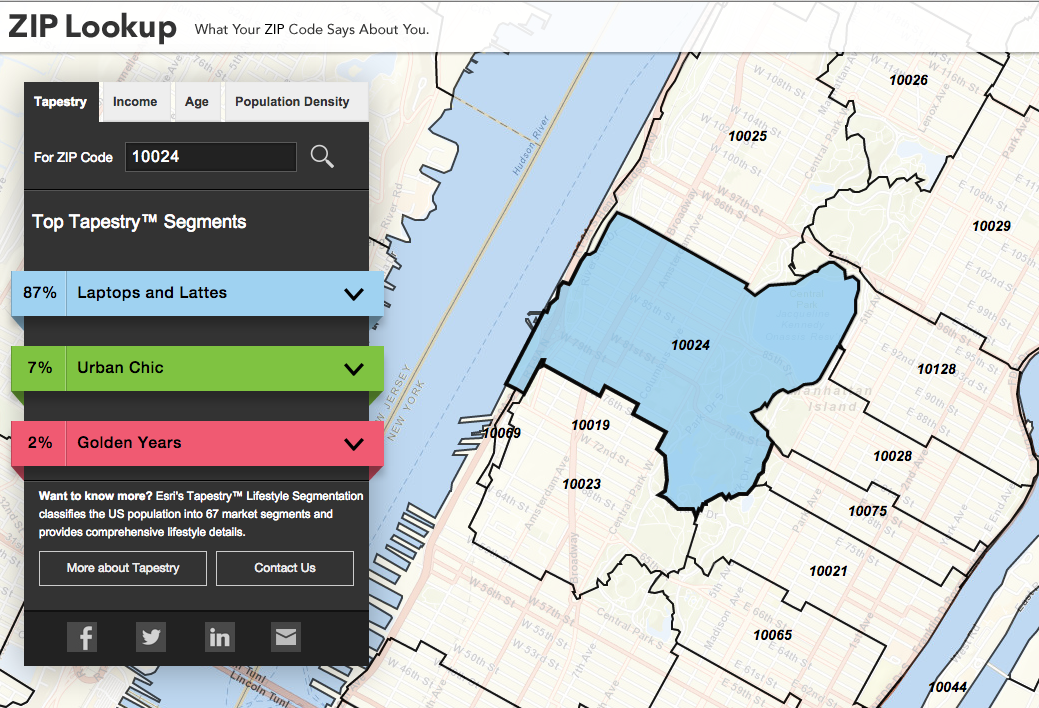 What Does Your Zip Code Say About You? New Map Tells All | 6sqft