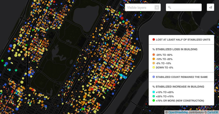 rent stabilization map, NYC rent stabilized apartments, Rent Guidelines Board