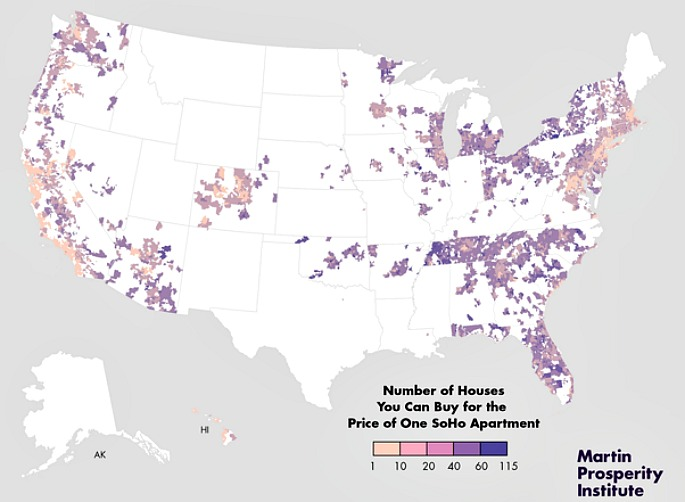 For The Price Of One Soho Apartment You Can Buy 38 Homes In - View House Prices On Map In Us