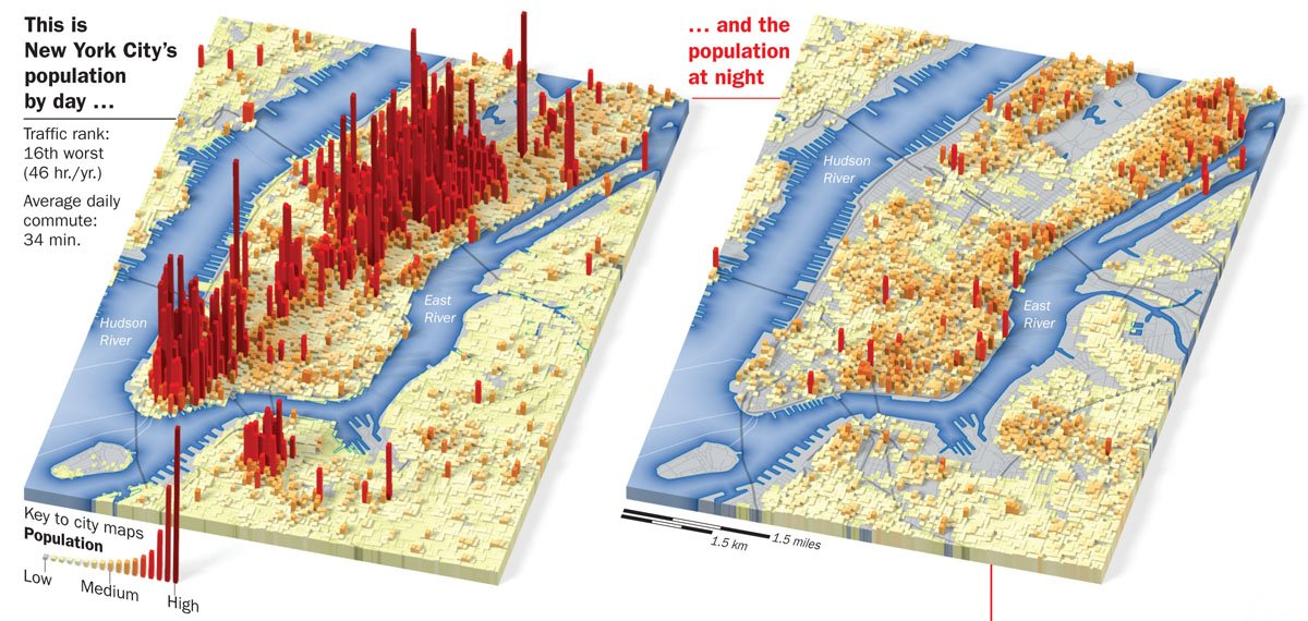 maps, new york population density, joe lertola, manhattan population density, manhattan population, new york population day versus night