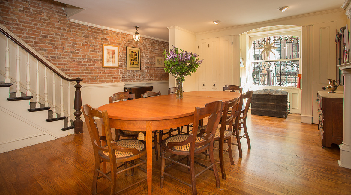 121 Lincoln Place, brownstone, park slope, dining room