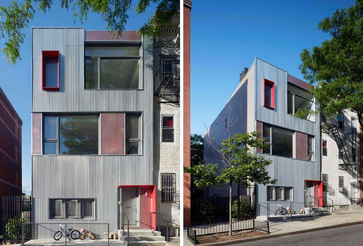 Park slope townhouse by etelamaki architecture uses a non for Townhouse architecture designs