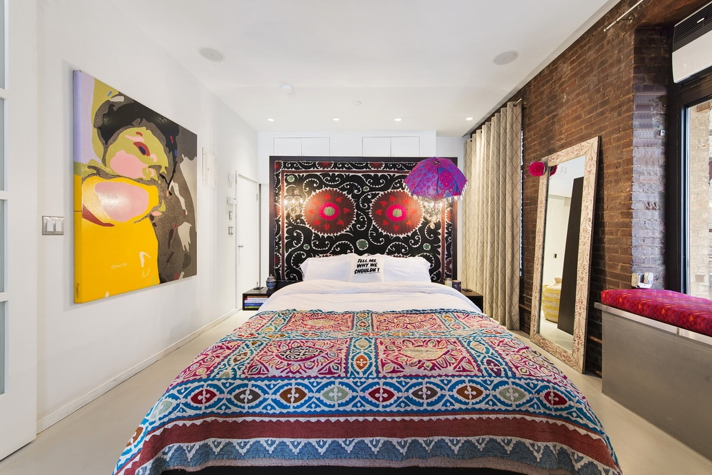 90 Hudson Street, bedroom, Tribeca, loft