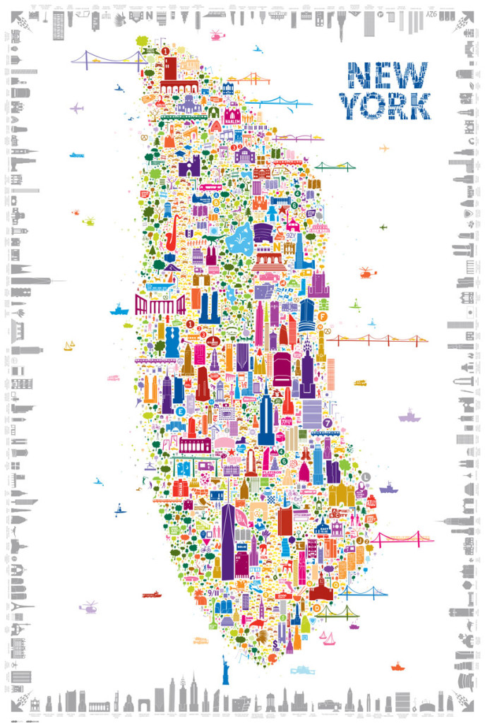 Alfalfa\'s Whimsical Map Colorfully Details 400+ New York Icons | 6sqft