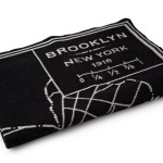brooklyn map blanket, merino wool throw