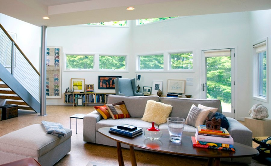 Kim Hoover, fossilized bamboo floors, Hudson Valley, Cali-bamboo, Hoover Architecture, New Paltz, cool roof