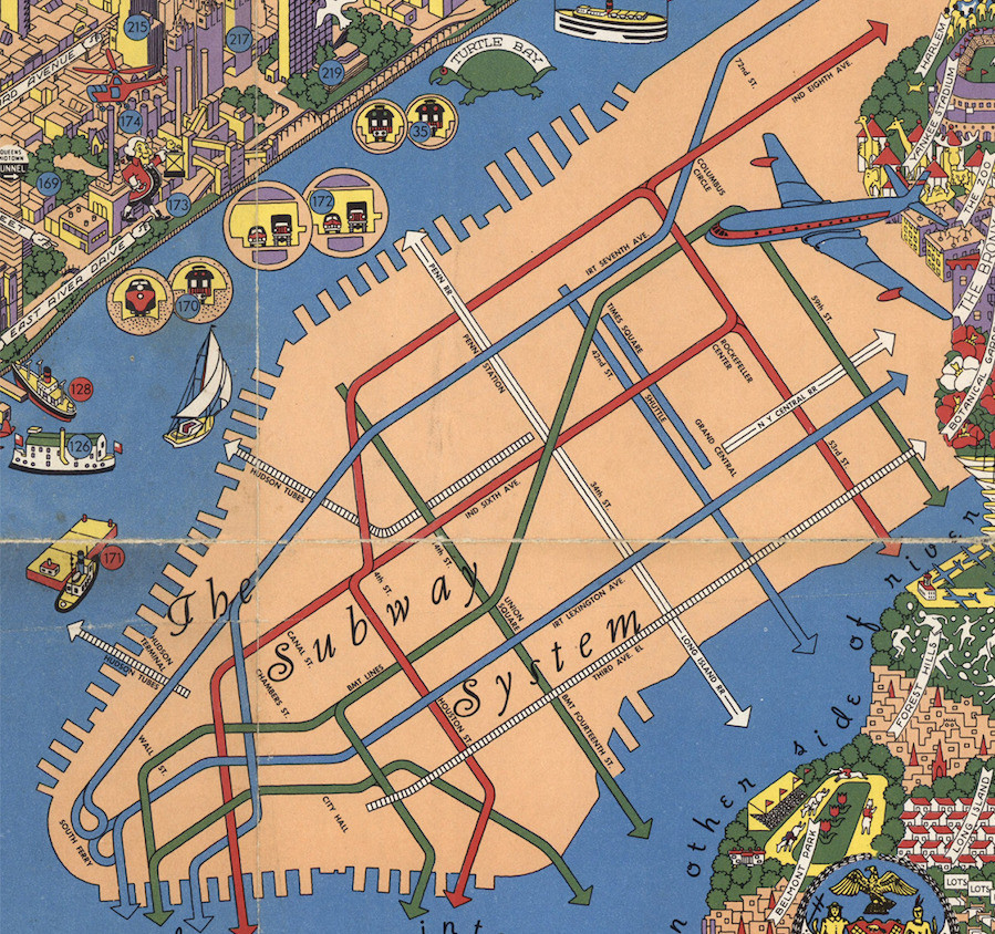 Maps, NYC Transit Map, Historic Map, Manhattan