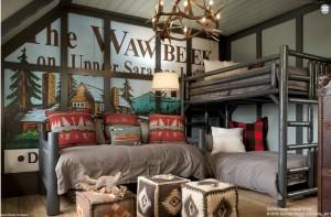 Camp Big Rock, bedroom, adirondacks