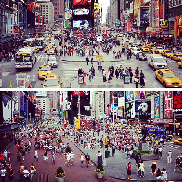times square before and after