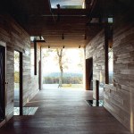 Preston Scott Cohen, Goodman House, recycled barn, Dutch barn, industrial gabled roof, naturally lighted interiors