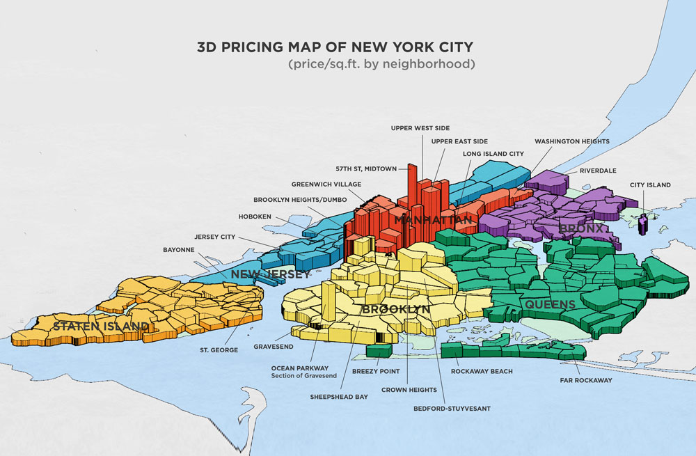 NeighborhoodX's 3D Map Reveals the Blocks Where Real Estate Prices on