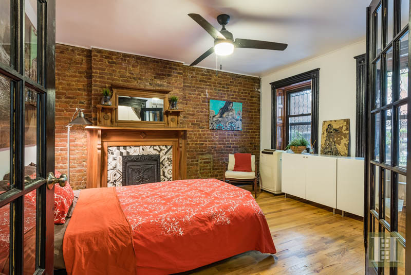 Wood detailing galore at this bed stuy brownstone asking 2 million 6sqft for Two bedroom apt in bed stuy area