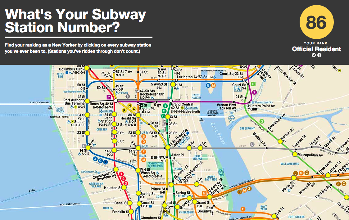 whats your subway cred new game judges you based on the number of stations youve visited