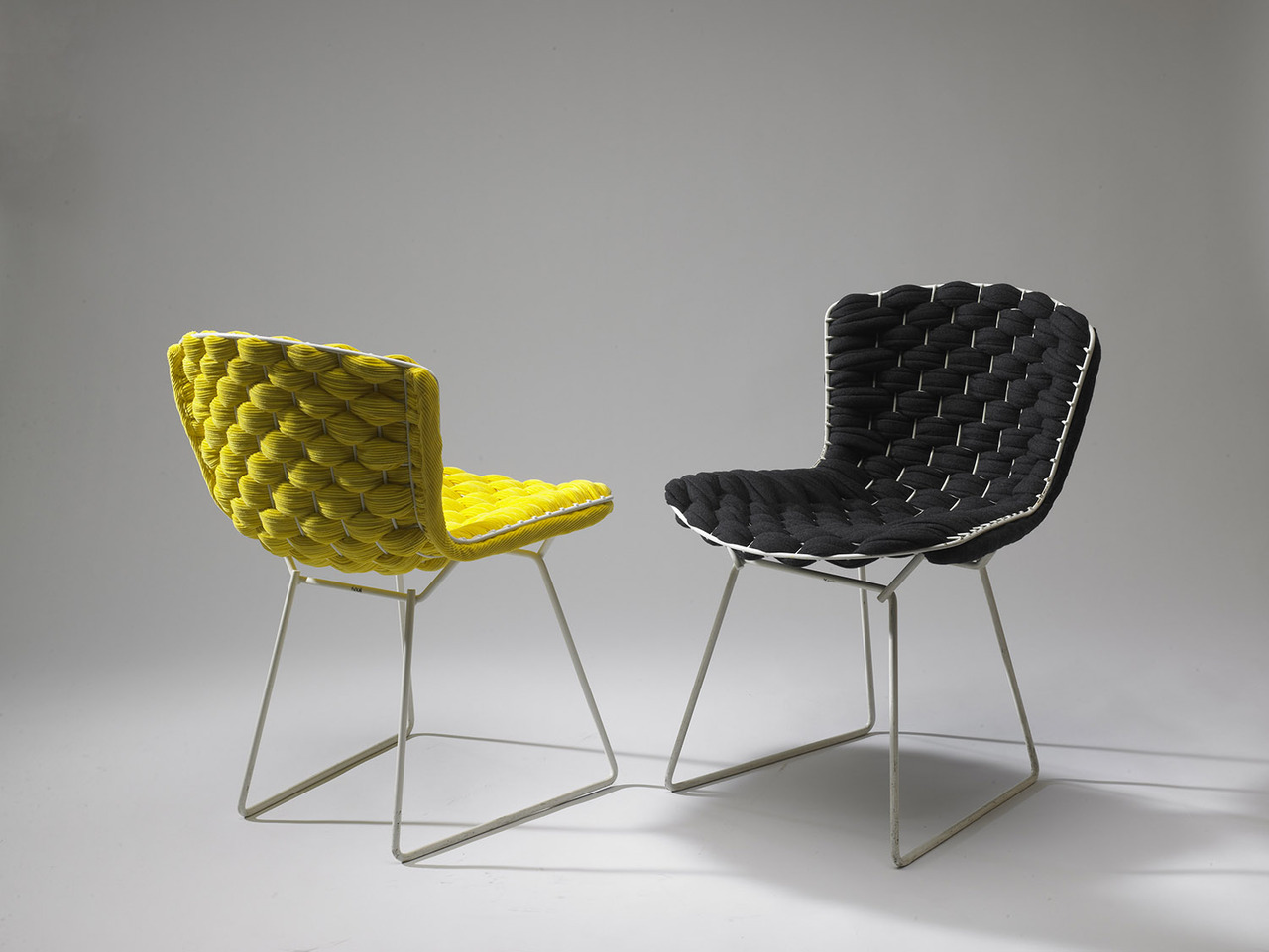 Cl ment brazille reinvents the iconic bertoia chair with for H furniture loom chair