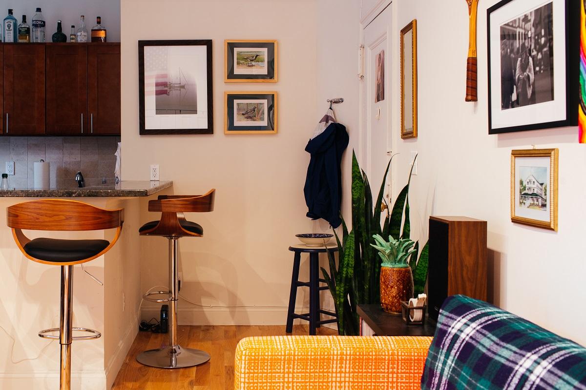 my 350sqft a modern bachelor opens up his creative and clever owen boyle brooklyn apartment design julie angelicola studio apartments