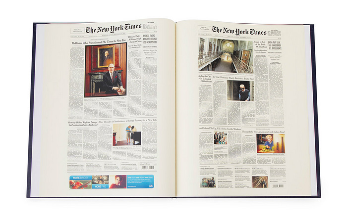 Ny Times Custom Birthday Book Features Every Front Page