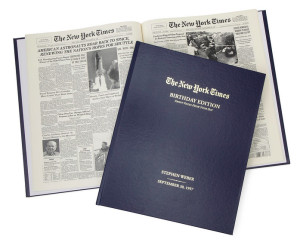The New York Times Custom Birthday Book, gifts for new yorkers, new york themed gifts, new york gifts, new york anniversary gifts
