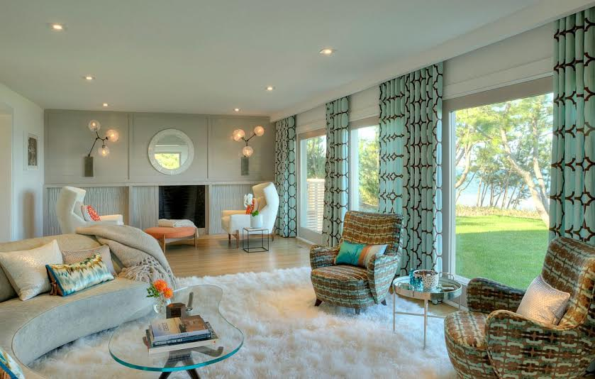 Dhd interiors bring the beach back to this hamptons beach for Hamptons beach house interiors