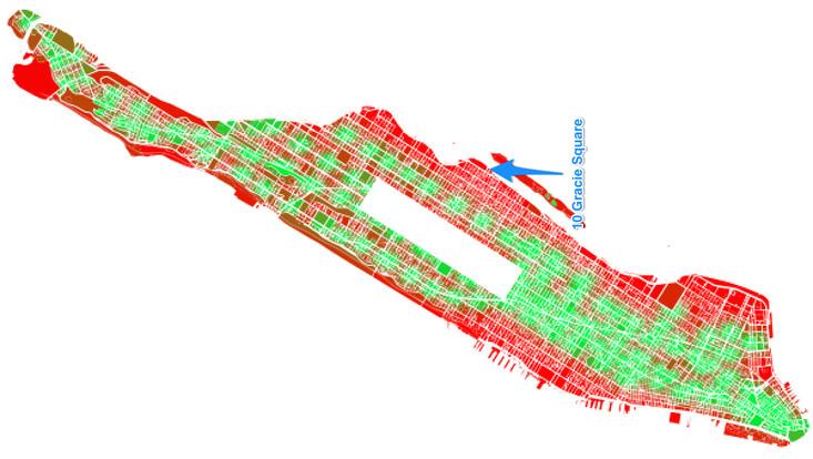 NYC Subway, Subway Distance Map, Manhattan subway Map, I Quant NY, MTA