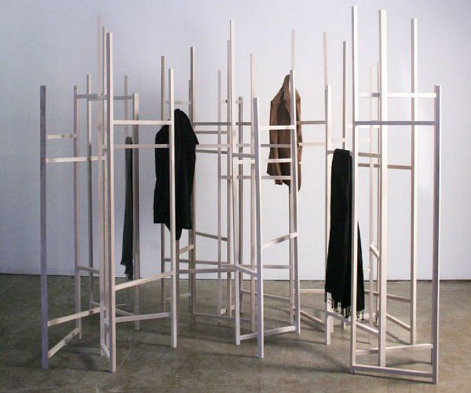 Jack Craig, Ash wood, Coat rack room dividers, multifunctional furniture, modular design, space-saving furniture