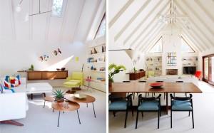 East Hampton Retreat, Amy Lau, Sandra Brauer, 1960s furniture, modern art