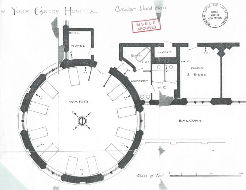 New York Cancer Hospital, history, floorplan