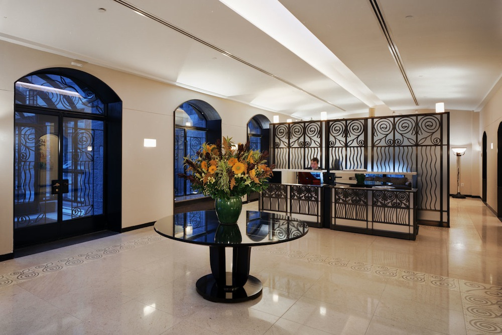455 Central Park West, lobby, renovation