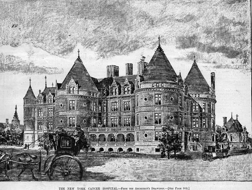 New York Cancer Hospital, 455 Central Park West, historic,