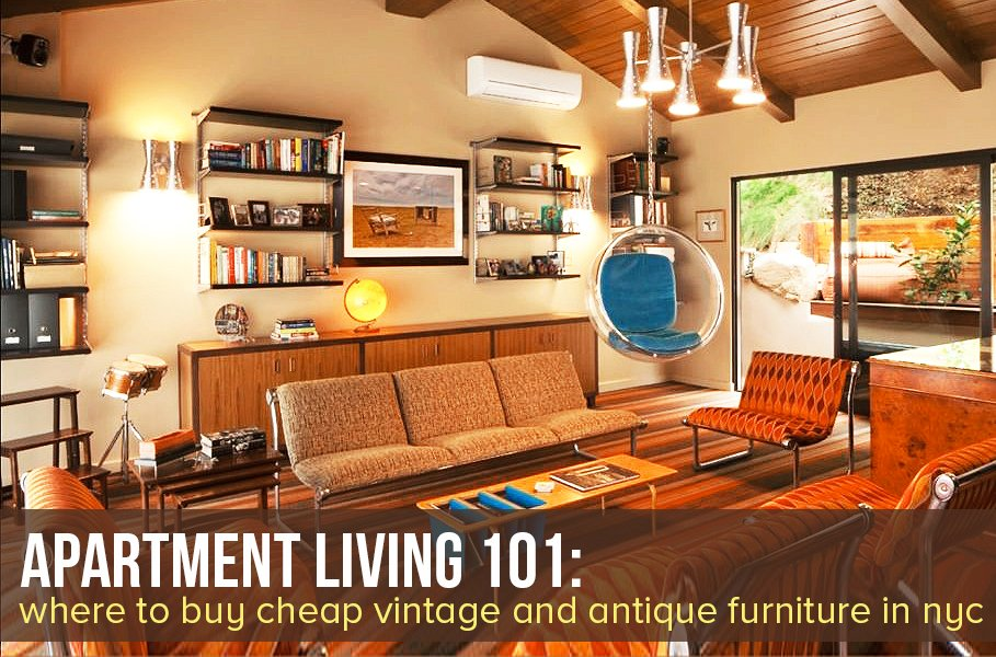 the best places to buy cheap vintage and antique furniture in nyc 6sqft. Black Bedroom Furniture Sets. Home Design Ideas