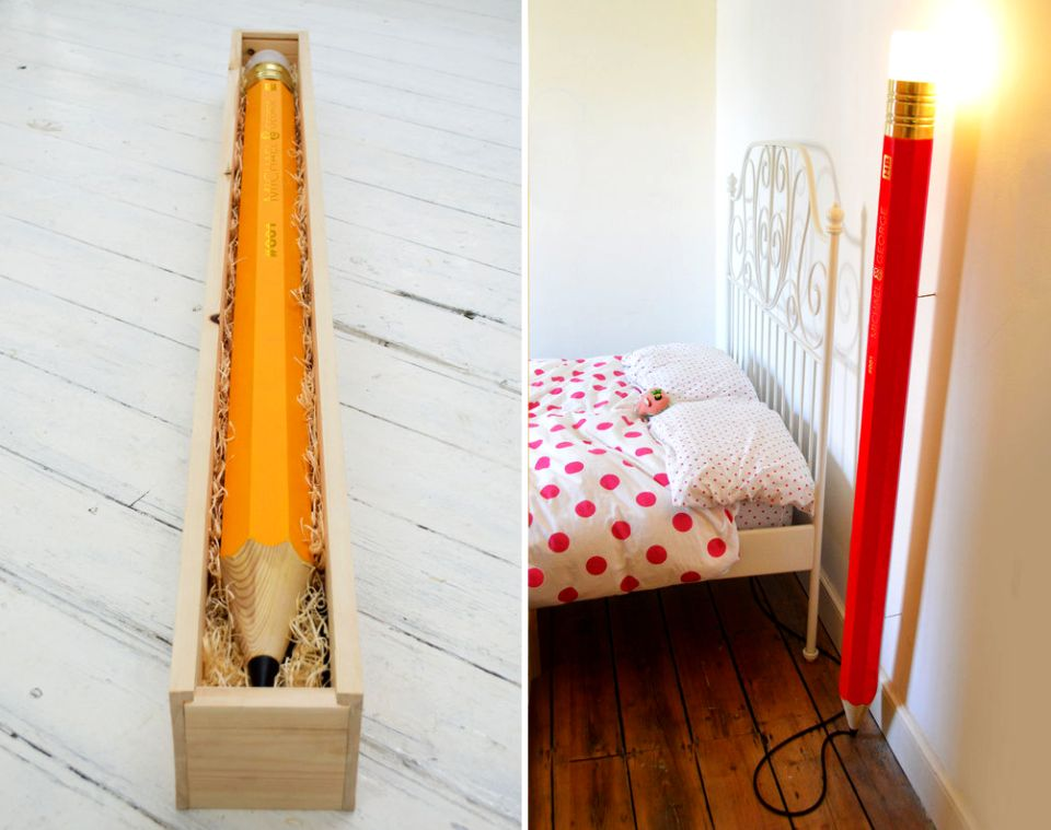 Cool floor lamps kids rooms Fabric Hb Lamp Pencil Lamp George And Michael Design 6sqft Giant Pencil Double As Lamp To Liven Up Your Living Space 6sqft