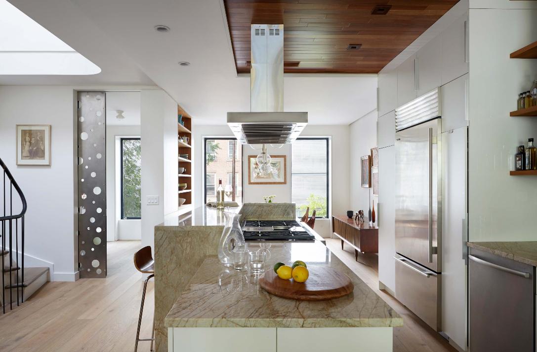 Etelamaki architecture minimalist prospect heights for Minimalist townhouse design