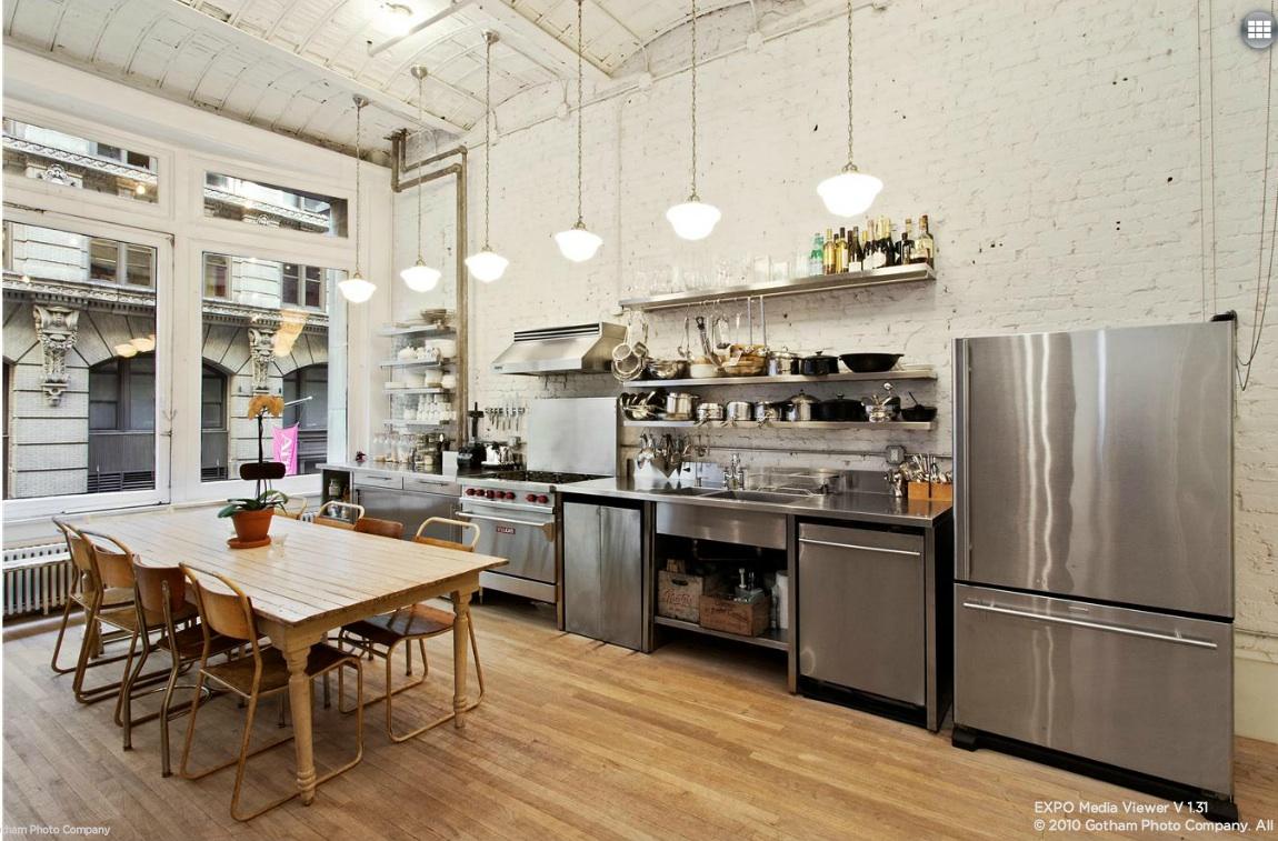 11 West 20th Street, kitchen, loft