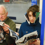 Imme van der Haak, DIY art, newspaper blinkers