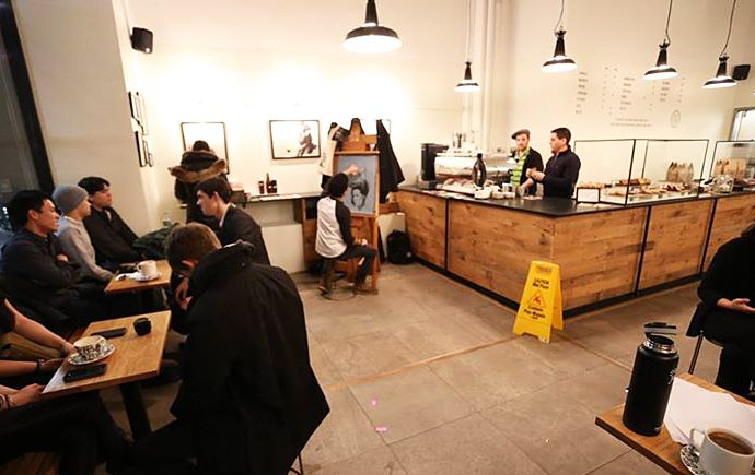 Seven Grams Caffe, Chelsea coffee shop