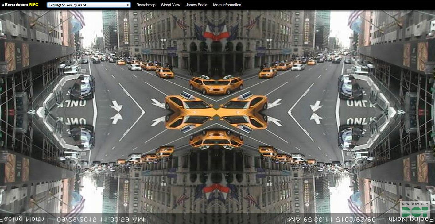 #Rorschmap, Rorschach Blots, kaleidoscope maps, james bridle