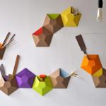ampersand, wallpockets, wall art, cardboard wall decor