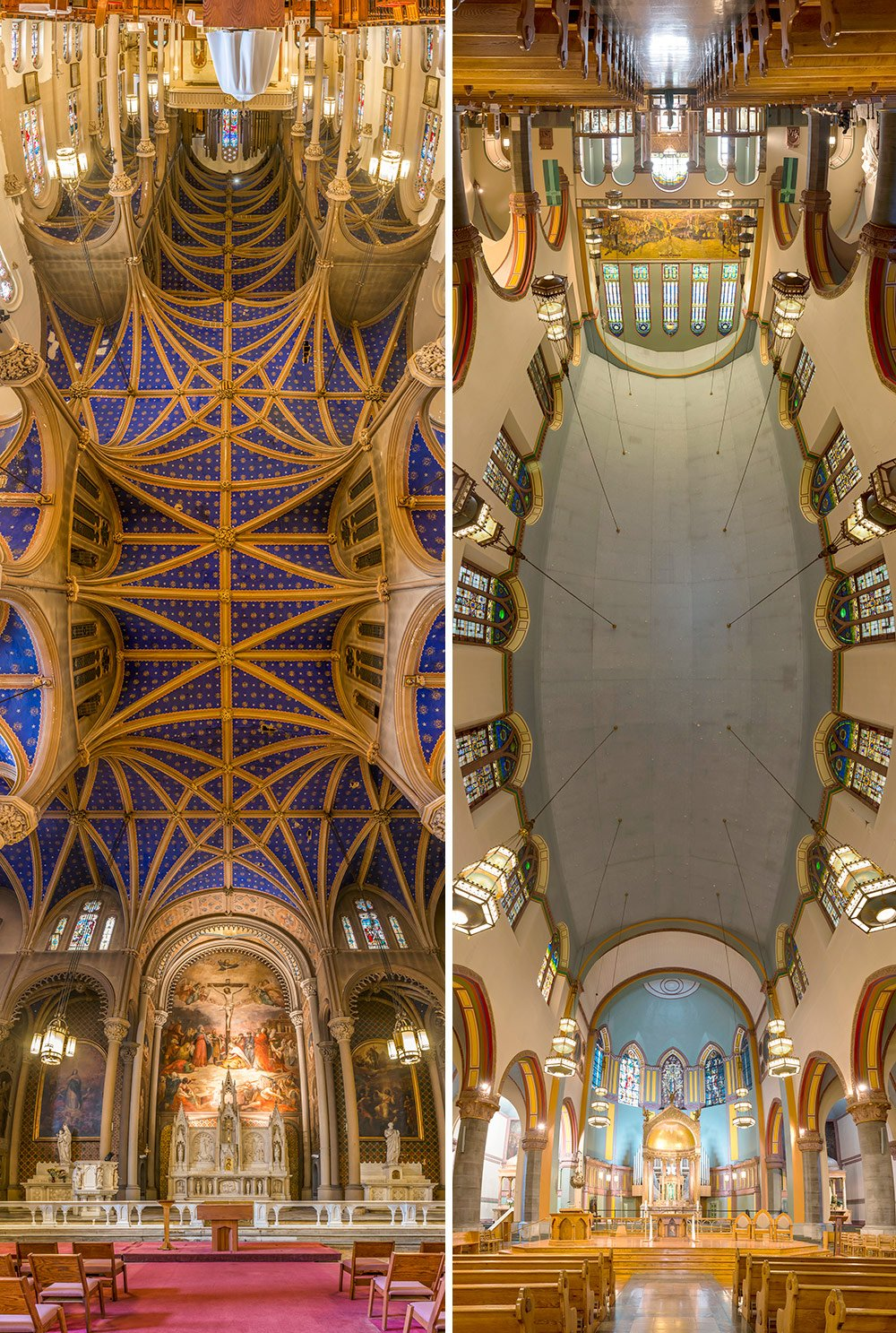 architectural photography, Richard Silver, vertical panorama, NYC church photography