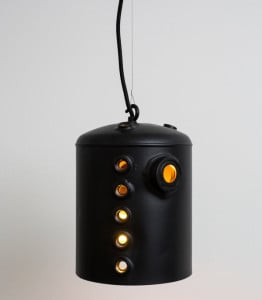 Boiler Lamp, Willem Heeffer, The City as a Mine, upcycled design