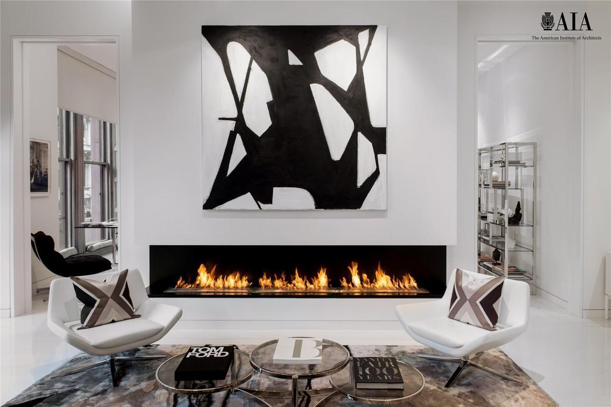 644 Broadway, fireplace