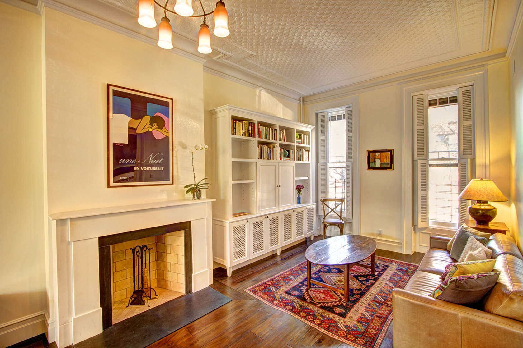 Park slope brownstone renovation by ben herzog adds open for Brownstone living room decorating ideas